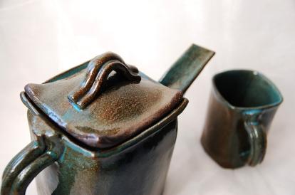 Teapot and mugs, 2010