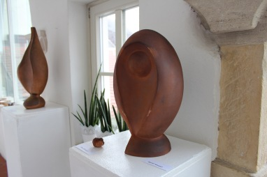 Woodfired sculptures, on exhibition, Layer house in december 2015