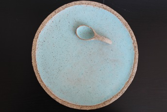 Plate with a spoon, custom made, 2015
