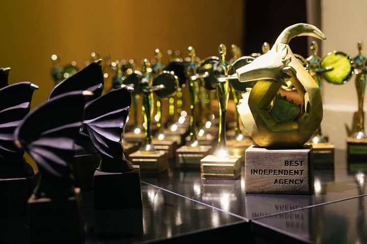 On the left: Dragon Wings, golden, silver and bronz Adriatic Awards (two categories),on the right: Golden Dragon, Best Independent Agency Award