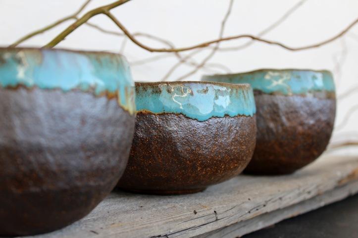 Magic blue bowls, 2017