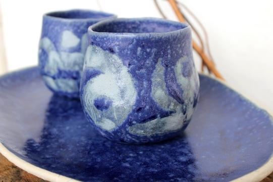 Blue shades mugs