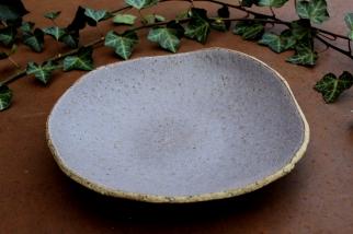 ceramic brown plate for salad dessert Scandinavian H\u00f6gan\u00e4s Keramik stoneware plates made in Sweden rustic pottery Grand series