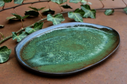 Forest green plate