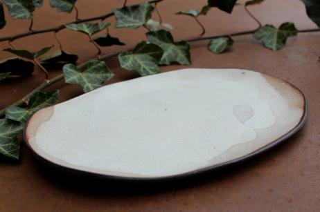 Smokey white plate