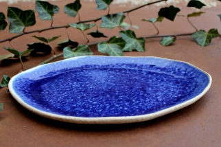 River blue plate