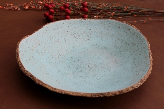 Lagoon turquize rustic plate